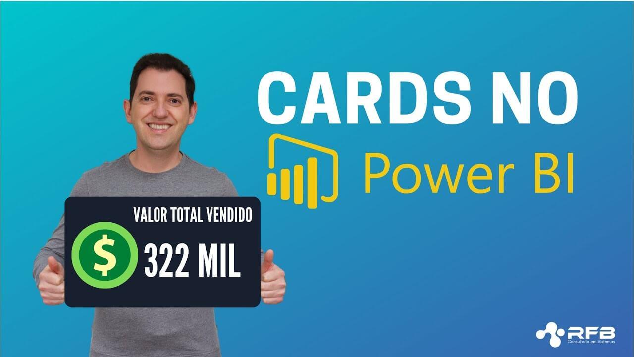 Como colocar cards no Power BI?